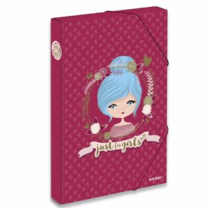 TECZKA A4 BOX NA GUMKĘ  JUST 4 GIRLS - KOD EAN: 5601199198445