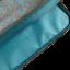 Niebieski pokrowiec - etui na laptopa w różnokolowe kwiaty z syntetycznego materiału lepszego od skóry.