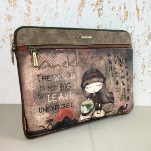 Etui torba na laptopa z paskiem na ramie Anekke Egipt 8433799912957