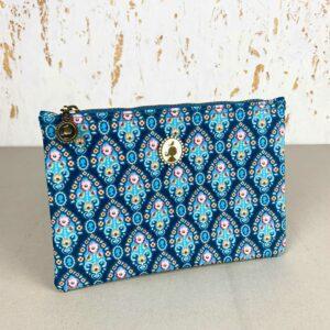 Saszetka etui kosmetyczka z eleganckim motywem PIP Studio niebieska 8718924523247